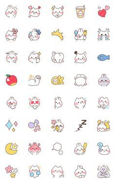 Mimi and Neko Emoji – LINE Emoji   LINE STORE