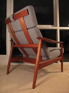 Arne Vodder; Model 164 Lounge Chair for France & Son, 1960s.