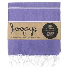 Violet Original Turkish Towel.  Premium quality, made by Loopys