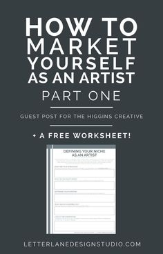 How to Market Yourself as an Artist PART ONE - Wondering how to get your name out there as a new artist? I'm sharing some tips I have for defining your niche, reaching your audience, and how to make money with your art! I've also includ Business Advice, Business Planning, Business Articles, Business Website, Shop Logo, Sell My Art, Illustrator, New Artists, Creative Business