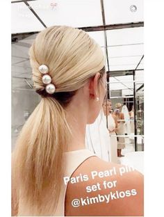 Jen Atkin featuring Kimby Kloss in our Pearl Bun Pin Trio!