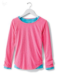 Our long sleeve tees (just $8 each) are made-to-match everything in the collection. Bring on the layers!
