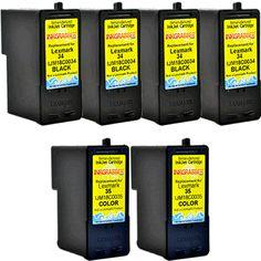 InkGrabber.com FIVE PACK - Remanufactured Lexmark Inkjet Cartridges (3 Black and 2 Color) Replaces 18C0034, 18C0035 (Lexmark Z 1320, Lexmark X 2500, Lexmark X 5495, Lexmark X 3550, Lexmark X 5320, Lexmark X 4530, Lexmark X 4550, Lexmark X 5075, Lexmark X 5070, Lexmark X 3530, Lexmark X 2550, Lexmark X 2530, Lexmark Z 845, Lexmark Z 1300, Lexmark Z 1420, Lexmark X 5260, Lexmark Z 810, Lexmark Z 812, Lexmark Z 815, Lexmark Z 818, Lexmark Z 1410, Lexmark X 5340, Lexmark X 5410)