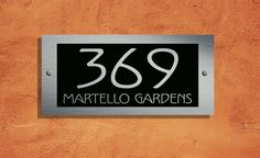 Martello Designer Address Plaque 300mm x 140mm – The Acrylic Master