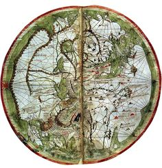 Mappa Mundi from Marino Sanuto's Liber secretorum (oriented with East at the top), circa 1320, British Library