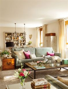 Trendy Home New Design Interiors Le Living, Cozy Living Rooms, Cottage Living, Home Living Room, Living Room Designs, Living Room Decor, Decoration Inspiration, Trendy Home, Eclectic Decor