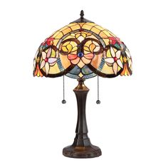 """CH35541AV16-TL2 Judith Victorian Tiffany Style Stained Glass Table Lamp 16"""" W #ChloeLighting #StainedGlass"""