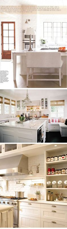 Great banquet under large windows in this kitchen (looks like there may be some drawers there too)