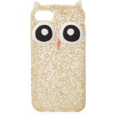 Kate Spade New York Women's Silicone Owl iPhone 7 Case - Gold ($29) ❤ liked on Polyvore featuring accessories, tech accessories, gold and kate spade