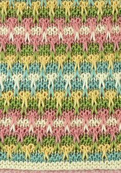 Ravelry: Mirbeau Slip Stitch Baby Blanket pattern by Brenda Lewis Slip Stitch Knitting, Knitting Stiches, Knitting Charts, Knitting Patterns Free, Baby Knitting, Stitch Patterns, Crochet Patterns, Free Pattern, Knit Stitches