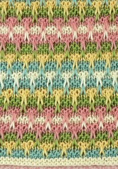 Mirbeau Slip Stitch Knit Blanket designed by Brenda Lewis- free pattern