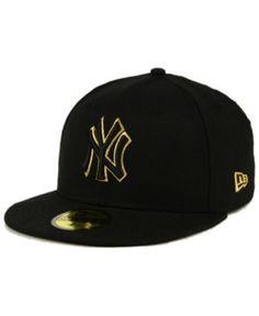 New Era New York Yankees Black On Metallic Gold 59FIFTY Fitted Cap - Black 7