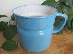 Annons på Tradera: Vackra saker från kockum , blå kanna. 1 1/2 L. 20 bred, 15 hög