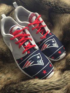 07e6da55fa5c NFL Custom Roshe Run All Teams by xRoyalKicksx on Etsy New England Patriots  Shoes
