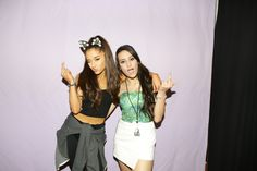 Ariana Grande with FANS
