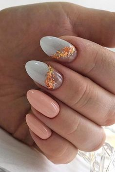 Bridal Nail Art Designs for Women in 2019 Page 17 of 20 is part of Coffin nails Long Prom - Wedding is a new beginning in the life of the bride and groom Whether you're planning a wedding soon or just dreaming, make your wedding… Cute Nails, Pretty Nails, Hair And Nails, My Nails, Pinterest Nail Ideas, Yellow Nail Art, Mint Nail Art, Gold Nail Art, Almond Nails Designs