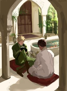 Hetalia - England and India<-- and England still has to sit with his legs crossed