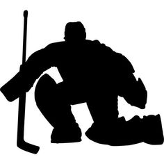 Goalkeeper Save Hockey Stencil - 18 inch (at longest point) - 60 mil ultraflex ind - deal posts Hockey Tournaments, Hockey Goalie, Hockey Mom, Hockey Players, Hockey Girls, Field Hockey, Hockey Birthday Parties, Hockey Party, Hockey Crafts