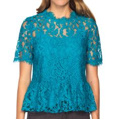 Damica Lace Top Teal Review Buy Now