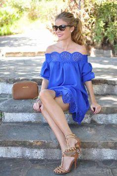 ObsessionDress: Shein, bag: Michael Kors, heels: Zara Fashion By Lola C. Cute Dresses, Casual Dresses, Casual Outfits, Cute Outfits, Fashion Outfits, Summer Dresses, Womens Fashion, Zara Fashion, Latest Fashion
