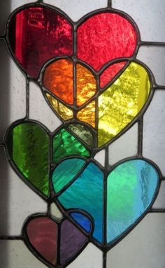 Stained Glass Hearts #StainedGlassFeathers