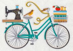 Crazy for Crafting Bicycle design (M5840) from www.Emblibrary.com