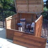 Australian Timber Pool Filter Covers, Queensland, New South Wales ...