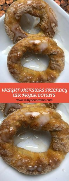 air fryer and recipes Weight Watchers Enchiladas, Weight Watchers Diet, Weight Watchers Desserts, Air Fryer Recipes Low Carb, Low Calorie Recipes, Donut Recipes, Ww Recipes, Air Fryer Doughnut Recipe, Greek Donuts