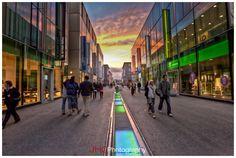 lausanne flon Lausanne, Retail Architecture, Shopping Malls, Landscape Lighting, Shopping Center, Retail Design, Switzerland, Places To Visit, Commercial
