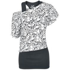 Skulls All Over Shirt by Full Volume by EMP