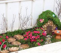 Make your own whimsical fairy garden with these creative DIY fairy garden ideas for inspiration. There are easy fairy garden ideas for containers, outdoors, and indoors. Beach Fairy Garden, Fairy Garden Plants, Fairy Garden Supplies, Fairy Garden Houses, Gardening Supplies, Garden Tools, Herb Garden, Vegetable Garden, Indoor Fairy Gardens