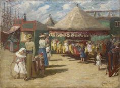Alfons Proost (1880-1957) At the fair, oil on canvas. Collection Simonis & Buunk, The Netherlands