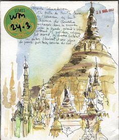 Grande Pagode Schwegadon, Carnet de voyage en Birmanie...