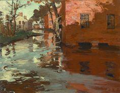 Jonas Lie (1880 - 1940)  Flood, Plainfield, New Jersey, ca. 1905