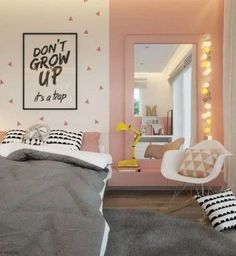 A Kids Bedroom Makeover Ideas My New Room, My Room, Girl Room, Pinterest Inspiration, Room Inspiration, Trendy Bedroom, Girls Bedroom, Kids Bedroom Furniture, Bedroom Decor