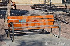 Graffiti Covered Park Bench - Download From Over 29 Million High Quality Stock Photos, Images, Vectors. Sign up for FREE today. Image: 49052673