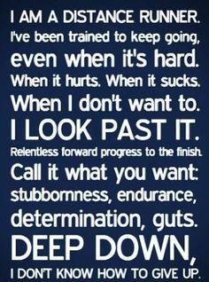 I am a distance runner.