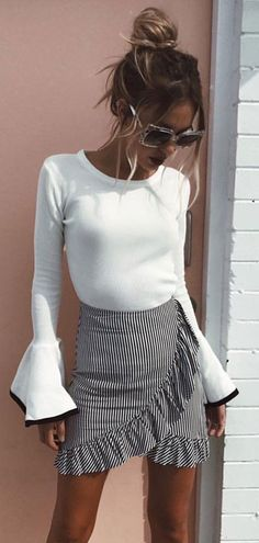 #gingham style skirt #outfit