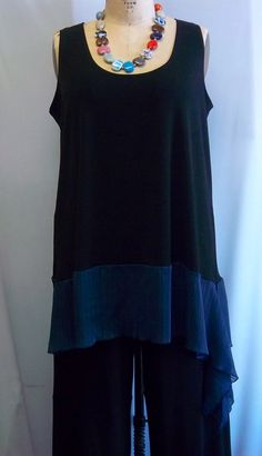 Coco and Juan Lagenlook Plus Size Black with Slate by COCOandJUAN, $30.00