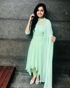 Check out the prettiest anarkalis suits and gowns in South Indian style from a very famous brand called Style diva label. Stylish Kurtis Design, Stylish Dress Designs, Designs For Dresses, Stylish Dresses, Indian Gowns Dresses, Indian Fashion Dresses, Dress Indian Style, Indian Designer Outfits, Indian Wear