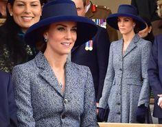 Kelly Mathews (@allthingsregal) on Twitter:  War Memorial Unveiling, London, March 9, 2017-Duchess of Cambridge
