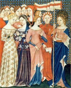 Various 14th century dresses
