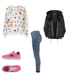 """Sans titre #4381"" by heidi-samoyau ❤ liked on Polyvore featuring Balmain, Tee and Cake, New Balance and Miss Selfridge"