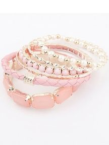 Pink Mashup Multilayer Bracelet