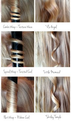 How to get different types of curls.