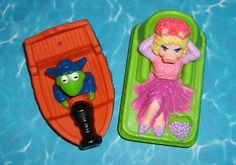 Muppet Treasure Island (1996) Happy Meal Toys. I used to have the Miss Piggy and Gonzo ones. (I wasn't alive when the movie came out but I got them at a toy box when I was little).