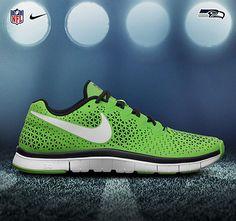 Shoes Nike NFL Seahawks Nike Free Shoes, Nike Shoes, Sneakers Nike, Seahawks Gear, Seattle Seahawks, Sock Shoes, Men's Shoes, Nike Nfl, Everyday Shoes