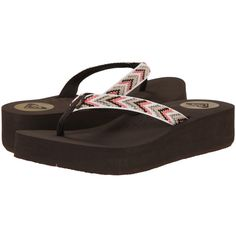 Roxy Barbados Sandals Women's Sandals ($36) ❤ liked on Polyvore