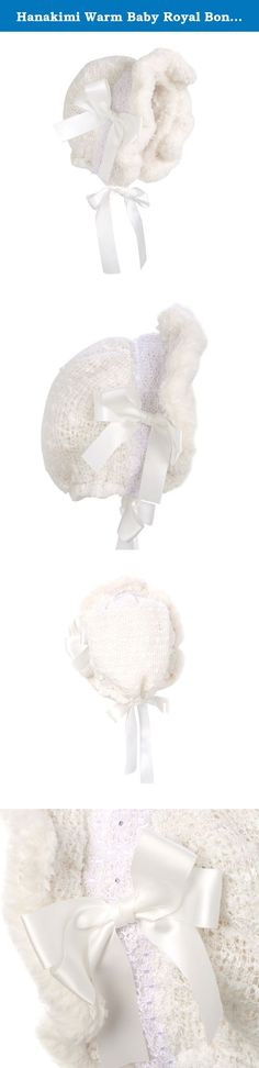 Hanakimi Warm Baby Royal Bonnet Handmade White (Newborn - 3 Years) (L/24M, White). Baby Bonnets are a time old tradition that carries into present day because of their elegance and functionality. They're offered in small to large sizes then tie at the chin with two silk ribbons for a more secure and comfortable fit. Carry the tradition in your family with a bonnet from Hanakimi you can't find anywhere else. For parties and photos, choose from baby girl bonnets for the perfect accessory to...