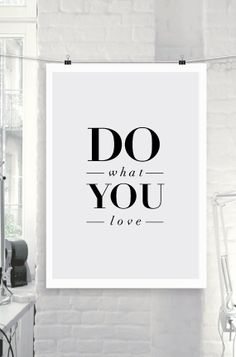 "Printable Typography Art Inspirational Quote ""Do What You Love"" Minimalist Home Decor Wall Art Thankful Quotes Office Decor"